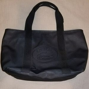 Lacoste classic large tote black